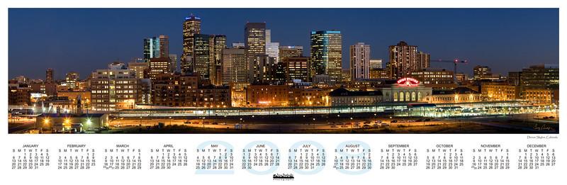 2008 Calendar Denver Skyline Pano 11_75x36