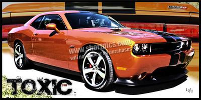 12x24 2011 Toxic Orange Challenger SRT8 Print