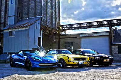 Vette Camaro Challenger at Quarry