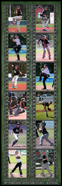 20x60 Vertical Filmstrip Black Hills All Stars Team Poster Rev 3