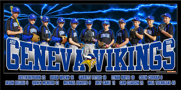 2015 12U Curran Geneva Vikings Team Poster