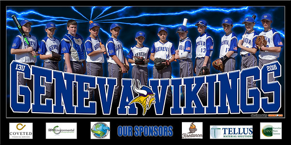 2016 13U Curran Geneva Vikings Team Banner