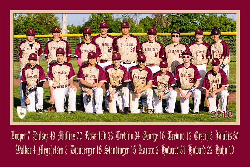 Crusaders Team Poster Two Rows Revised 20x30