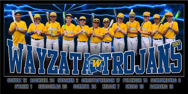 2017 12U Wayzata Trojan Team Poster
