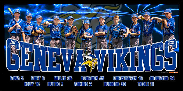 2018 11U Rumoro Geneva Vikings Team Banner