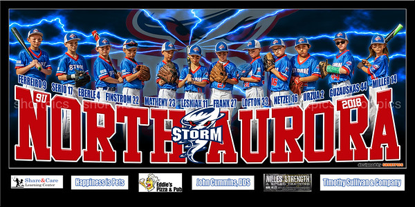 2018 9U North Aurora Storm Team Banner