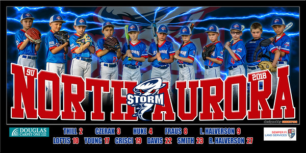 2018 9U North Aurora Storm Halverson Team Banner