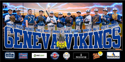2019 11U Kastor Geneva Vikings Team Banner Full Team w Field
