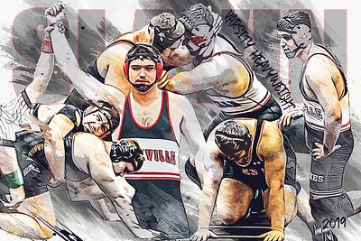 Josh Slavin Wrestling Poster Vector Sketch 2