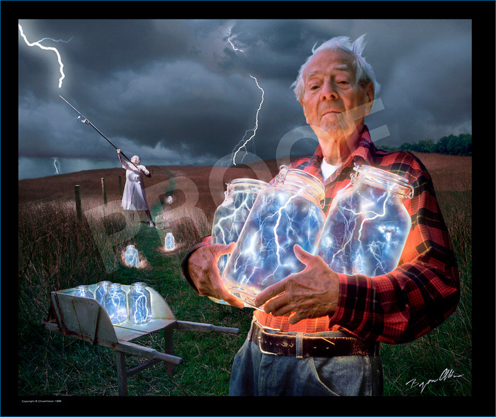 "To get this image in a different size, different surfaces, framed, or even as greeting cards, they can be found <a href=""http://fineartamerica.com/featured/the-lightning-catchers-bryan-allen.html"">here.</span></a></p>  To see more <a href=""http://fineartamerica.com/art/all/fantasy/all"" style=""font: 10pt arial; text-decoration: underline;"">fantasy art</a> click the highlighted words.  To see the image larger than above, click on the thumbnail to the left and then use the X2 size button above the image.   Walt appeared in one other interesting image. You can see it and get prints of that <a href=""http://fineartamerica.com/featured/twilight-bryan-allen.html"">here.</span></a></p>"