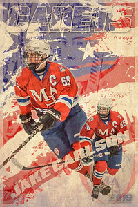 24x36 Carlson Flag Hockey Poster