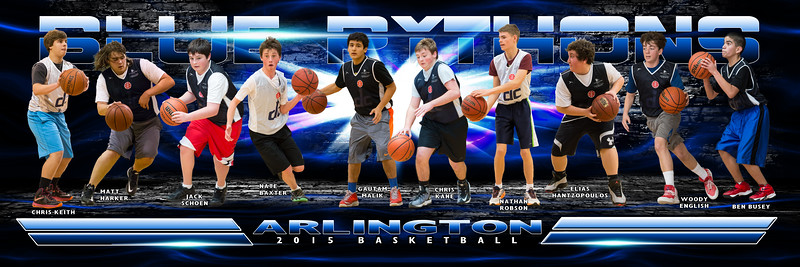 Blue Pythons Basketball Team Poster