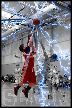 Jarek Slavin Basketball Poster