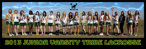 2013 Junior Varsity Tribe Lacrosse Team Poster