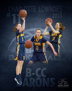 Charlotte Lowndes 2018 B-CC Basketball
