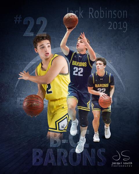 Jack Robinson 2019 B-CC Basketball,  ©2019 Jacqui South Photography