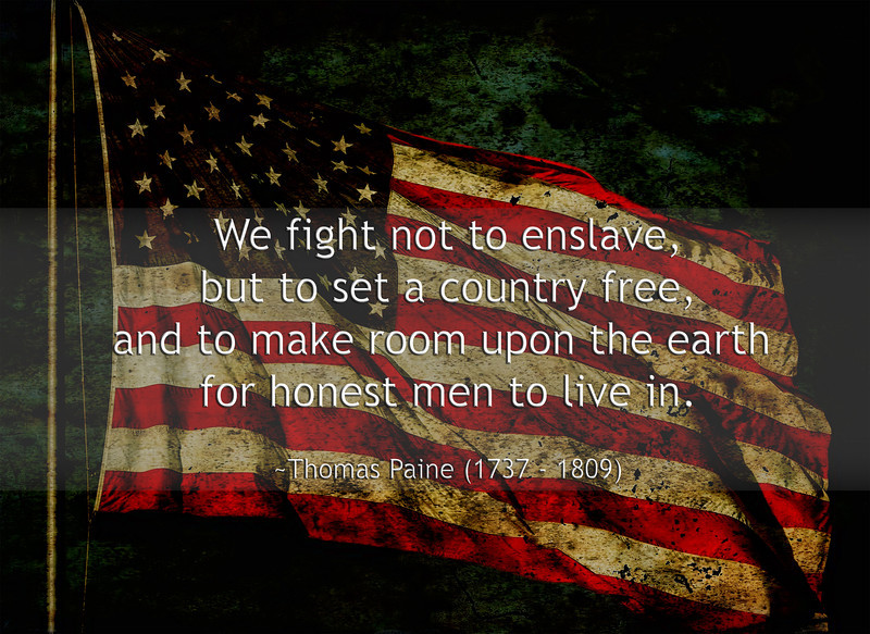 We fight not to enslave