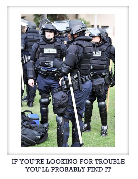 Cops in riot gear