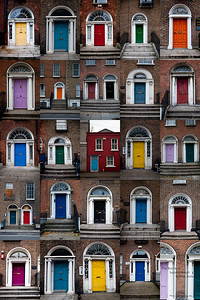 The Doors of Leeson Street, Dublin