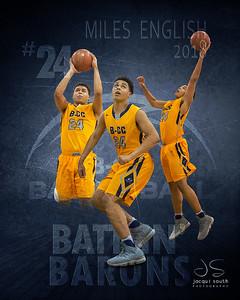 Miles English 2018 B-CC Basketball, ©2019 Jacqui South Photography