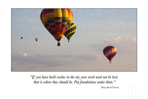 Castles in the air - Inspirational poster