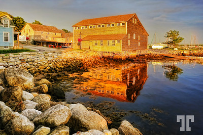 Sunset reflections - Shelburne, Nova Scotia  (ZZ), (XX)