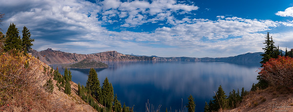 Crater Lake Panorama Elements