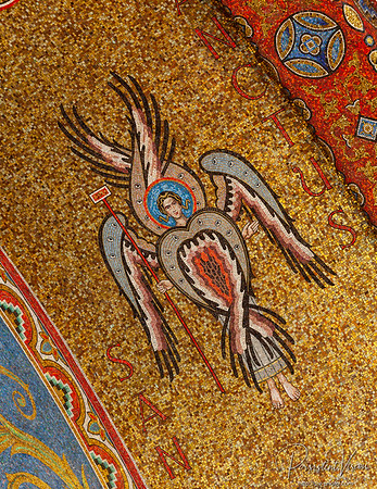 Closeup of Mosaic in Ceiling
