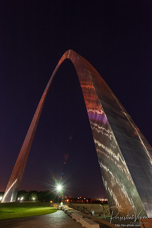 Gateway Arch at Night-Lights Off
