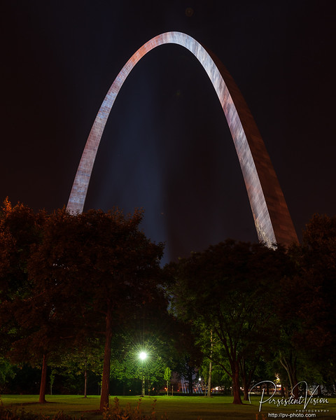 Gateway Arch at Night