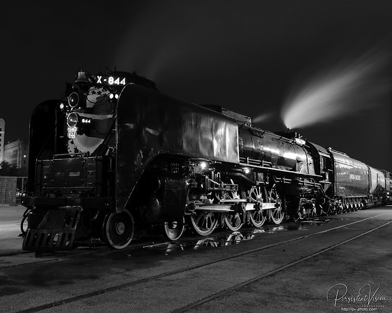 Union Pacific 844 at Night