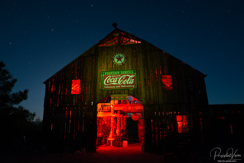 Barn at Night-With Lightpainting