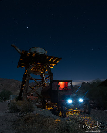 Water Tower and Truck with Lightpainting