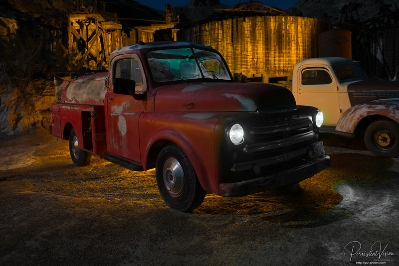 Truck with Lightpainting