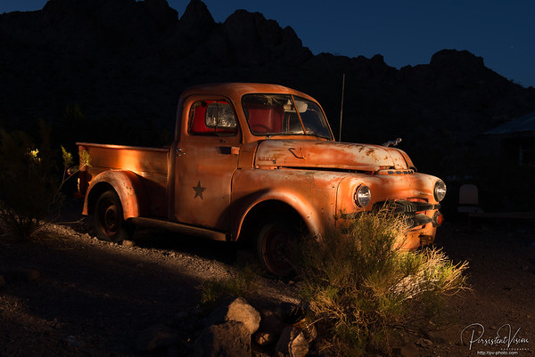 Truck at night-With Lightpainting