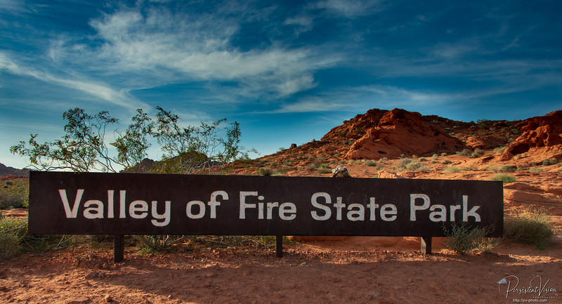 Valley of Fire State Park Entrance Sign, Gertrude