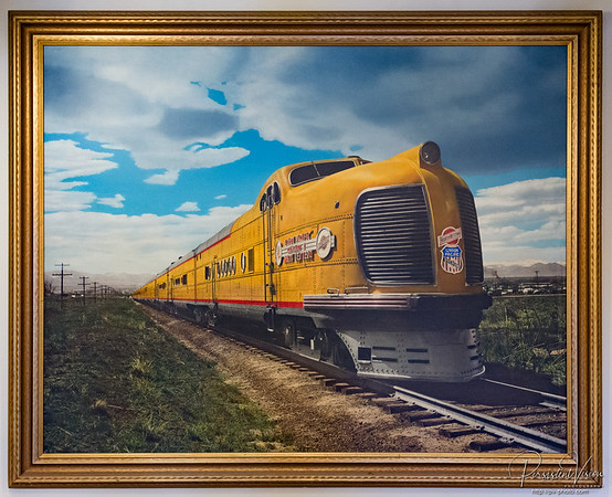 Painting of Union Pacific Overland North Western Passenger train