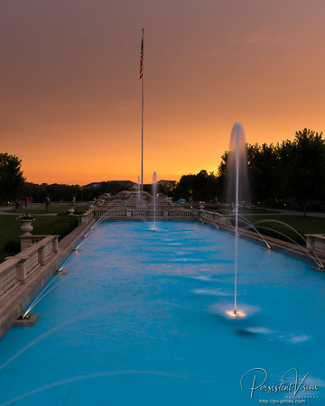 Fountains, Sunset