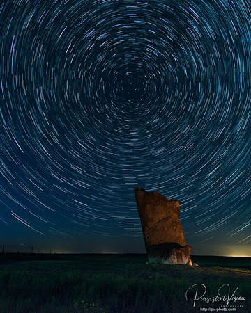 Teter Rock and Star Trails