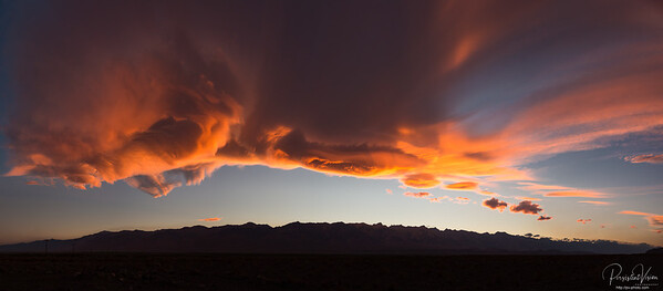 Sunset over the Sierras