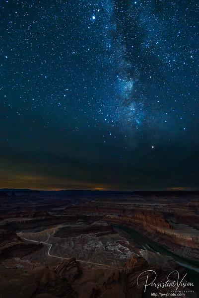 Image of the Milky Way over Goose Neck from Dead Horse Point taken after moonrise