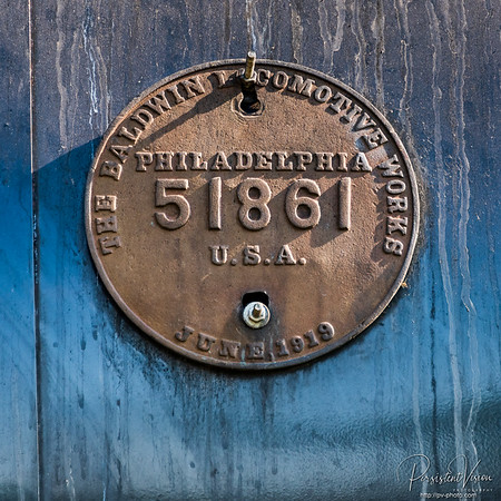 A.T.&S.F. Locomotive 3415 Builder's Plate