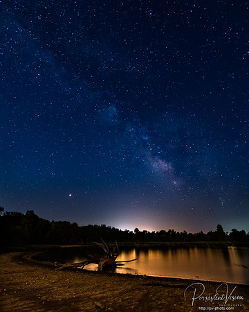 Milky Way over Hillsdale Lake