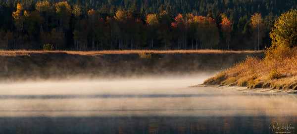 Mist on Snake River at Oxbow Bend