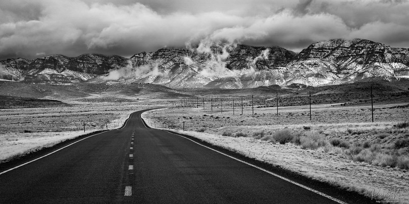 Hwy 50, Mountains and Clouds