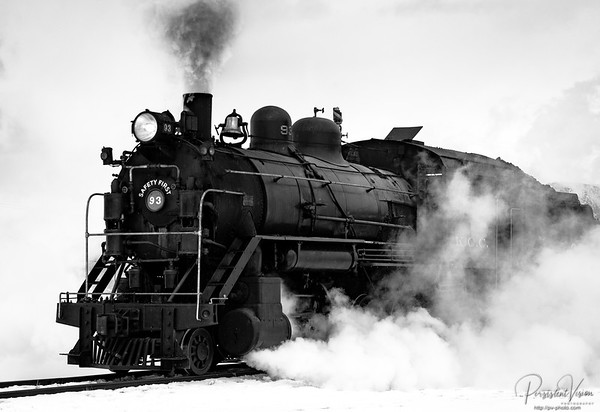 Locomotive #93 Steaming up in the Yard