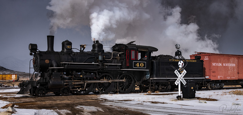 Locomotive #40 Runby in the East Ely Yard