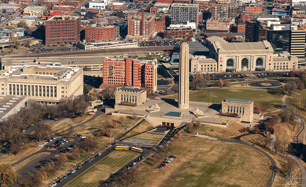 National World War I Museum and Memorial with Union Station in the background