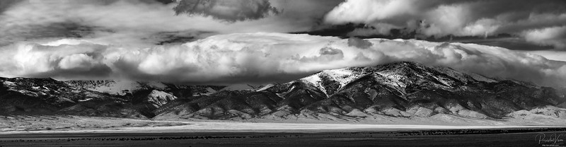 High Desert Mountains and Clouds Panorama