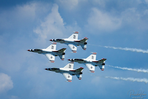 On May 25, 1953, just six years after the U.S. Air Force became its own branch of service, the Thunderbirds were born as the Air Force's official air demonstration team. The team, designated the 3600th Air Demonstration Unit, was activated at Luke AFB, Arizona. Over the years and with many different aircraft, the Thunderbirds have continued to represent those who deserve the most credit: the hardworking Airmen who serve our country every day.